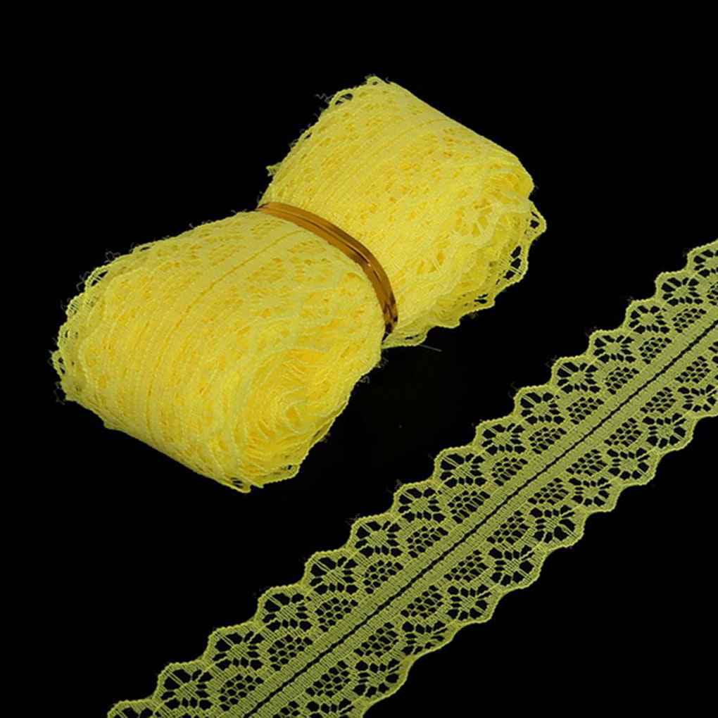 5 yards/per Width Lace Ribbon DIY Decorative Lace Trim Fabric Wedding Birthday Christmas Decor Craft Clothing Accessories