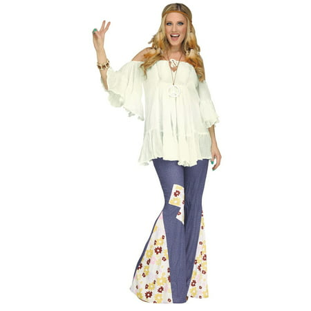 Hippie Gauze Top Adult Halloween Costume - Ivory Lounge Halloween