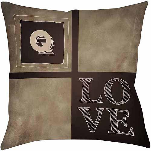 MWW, Inc. Thumbprintz Chalkboard Monogram Neutral Decorative Pillows