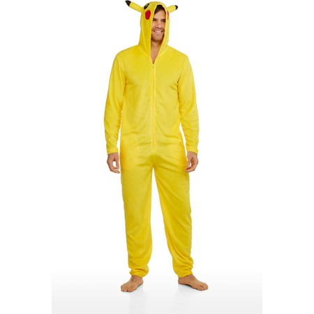 Pokemon Pikachu Licensed Men's Onesie Hooded Union Suit