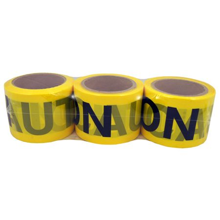 """Hy-Ko Yellow Caution Safety Tape, 3"""" x 200' Roll for $<!---->"""