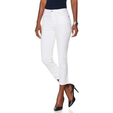 Diane Gilman Cropped Skinny Jean Embellished Pockets 536-379
