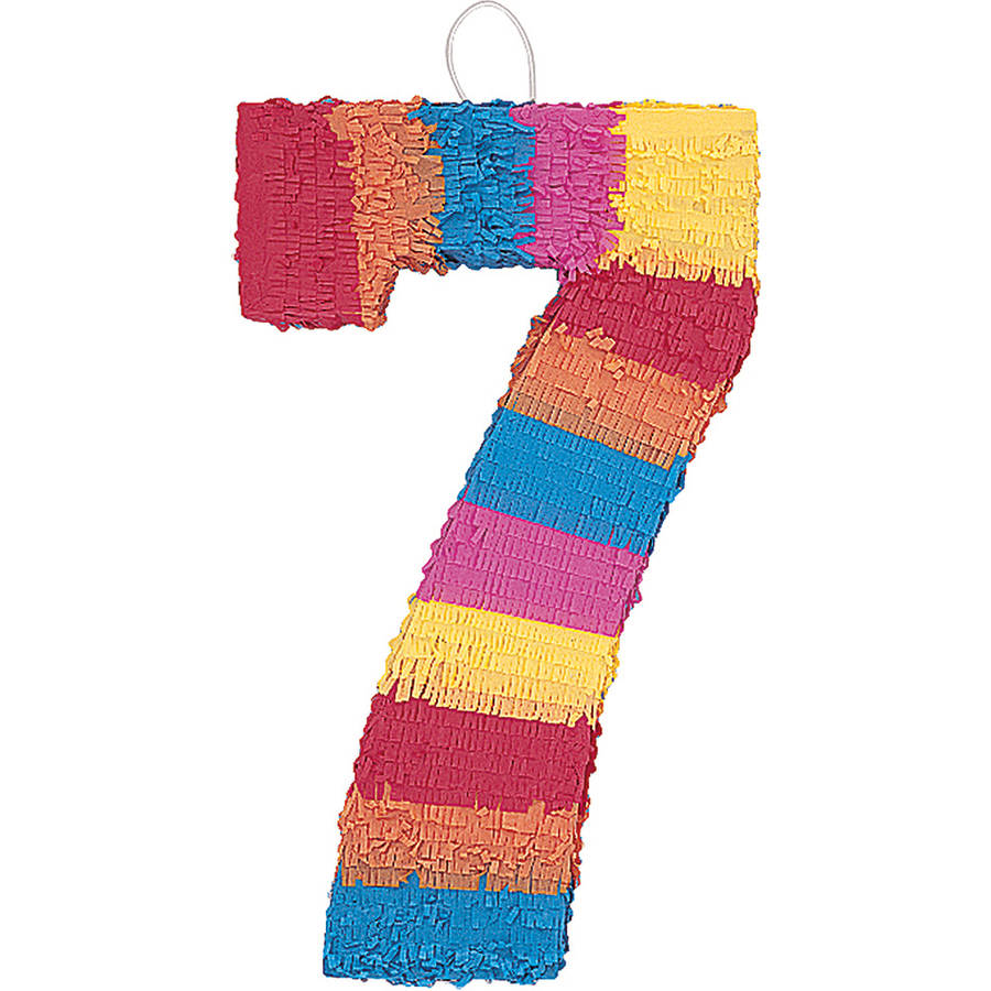 Multicolor Number 7 Pinata