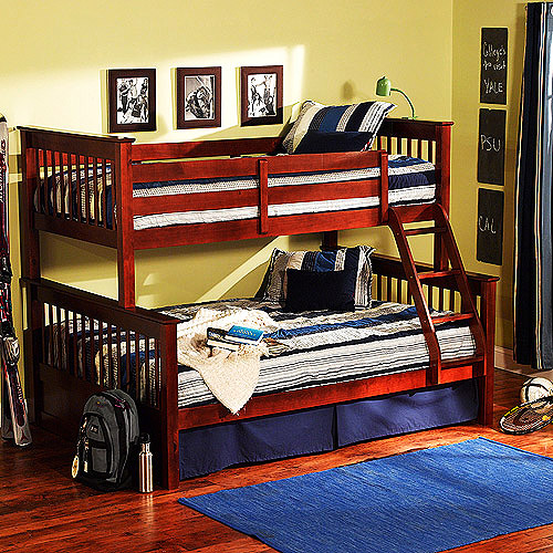 Dallan Twin over Full Bunk Bed, Walnut