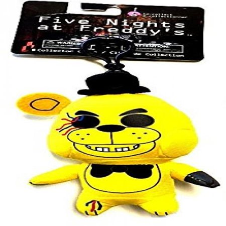 FNAF Officially Licensed Five Nights At Freddys 5 Golden Freddy Plush Toy Clip