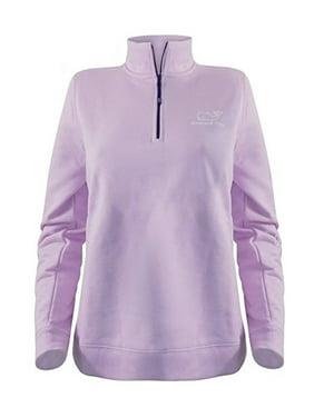 16138ad4 Product Image Vineyard Vines Women's Vintage Whale Contrast 1/4 Zip  Pullover $125.00 in Pink Lavendar (