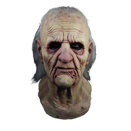 Texas Chainsaw Massacre 2 Grandpa Adult Latex Costume - Massacre Mask