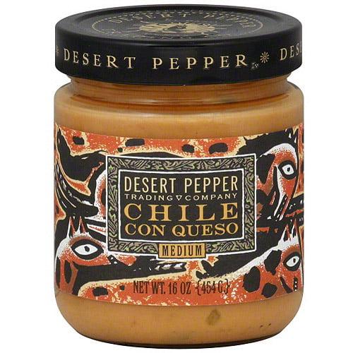 Desert Pepper Chile Con Queso, 16 oz (Pack of 6)