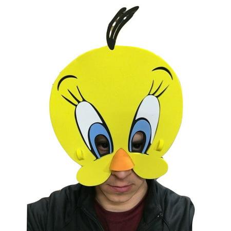 Tweety Bird EVA Foam Face Mask Looney Tunes Yellow Costume Accessory
