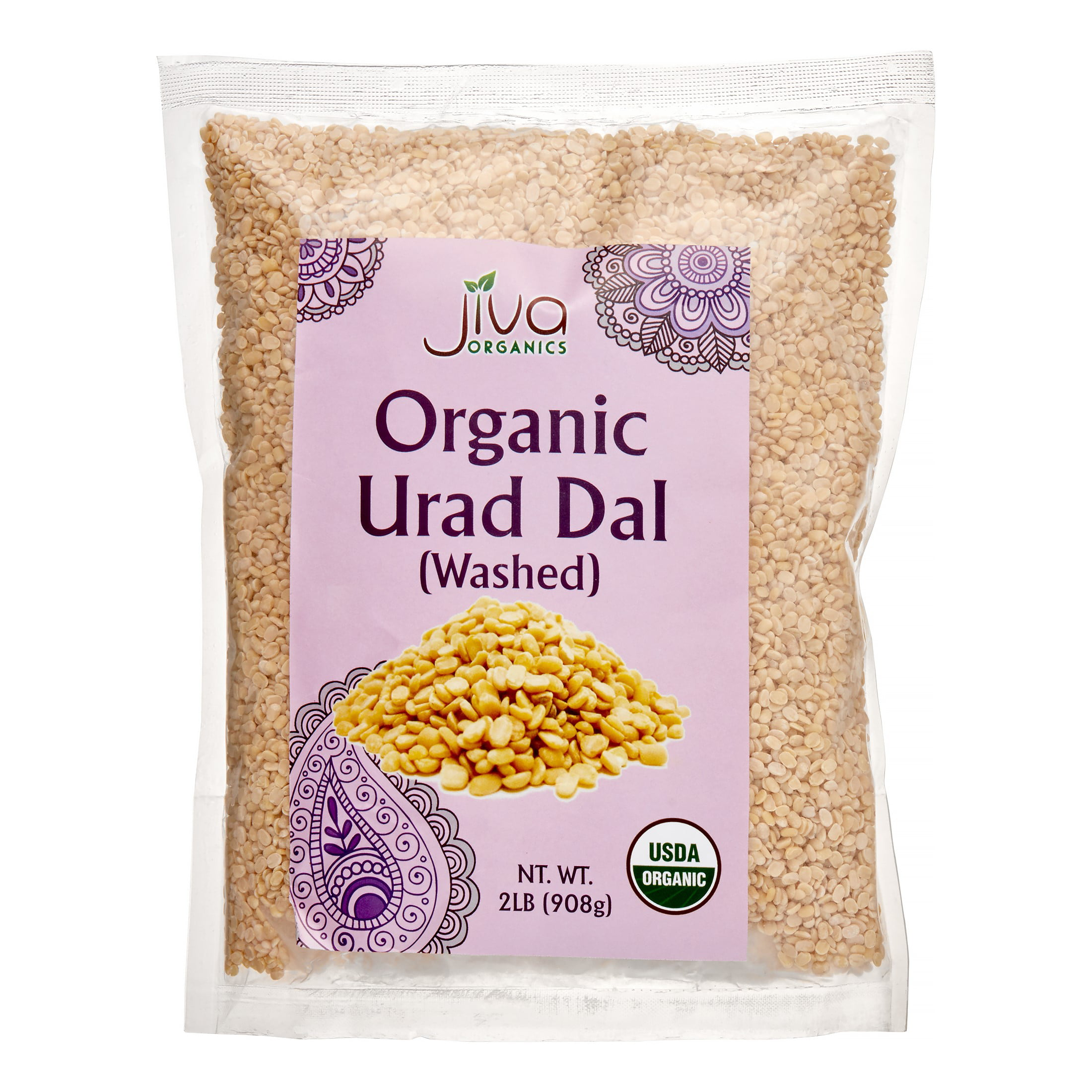 Jiva Organic Urad Dal White Washed, 2 Lb by Supplier Generic