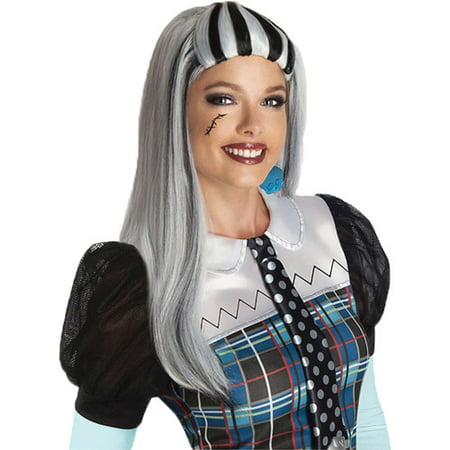 Monster High Frankie Stein Wig Adult Halloween Accessory (Halloween Frankie Human Steins)