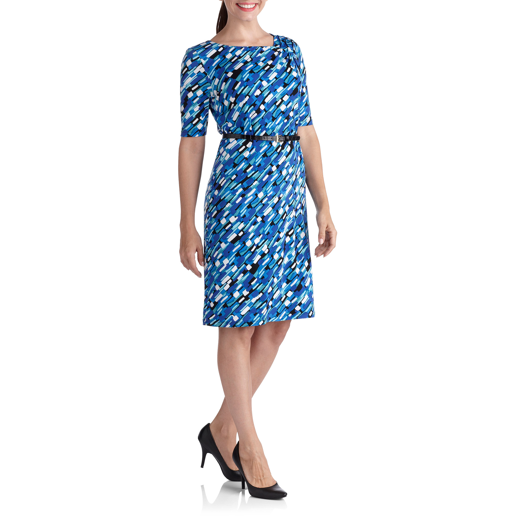 George Women's Printed Belted Dress