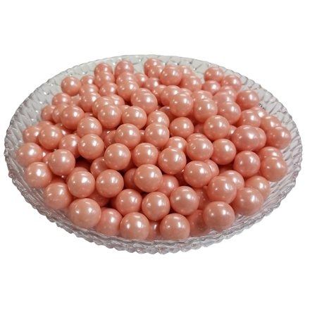 Sweet Bubble Gum - Gumballs Glimmer Pink Bubble Gum 2 Pounds 0.5 inch Mini Gumballs