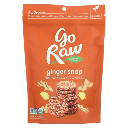 Go Raw Ginger Snap - Case Of 12 - 3 Oz. (Organic Ginger Snaps)