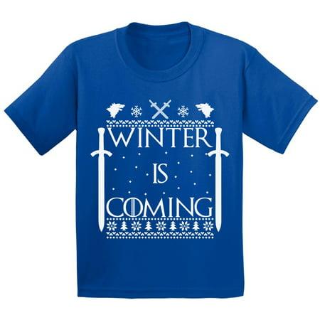 awkward styles winter is coming baby christmas toddler christmas tee christmas shirts for kids winter is coming infant christmas gifts for kids christmas