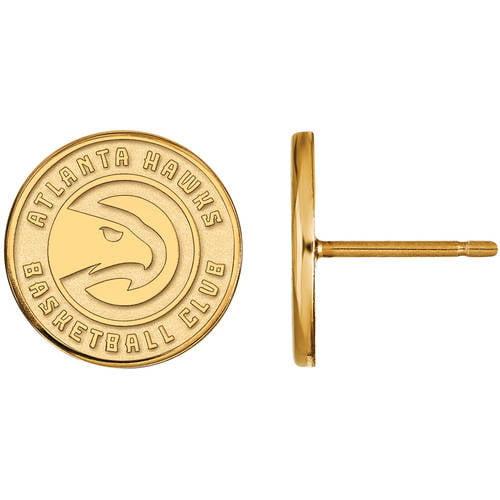 LogoArt NBA Atlanta Hawks 10kt Yellow Gold Stud Earrings