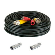 GW Security 150 Feet Pre-made All-in-One BNC Video and Power Extension Cable with Connector for CCTV Security Camera (Black, 150 feet)