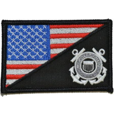 Coast Guard USA Flag - 2.25x3.5 Patch