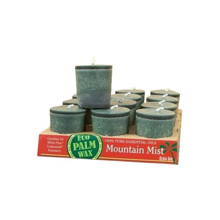Aloha Bay Palm Wax Mountain Mist Votive Candle - 2 Oz, 12 Ea