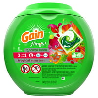 Gain flings! + Aroma Boost Laundry Detergent Pacs, Tropical Sunrise, 42 Count