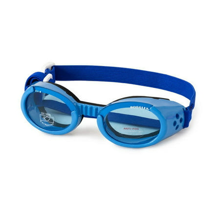 Doggles ILS Small Shiny Blue Frame Lens Extra Wide Nose Bridge Dog (Doggles Hat)