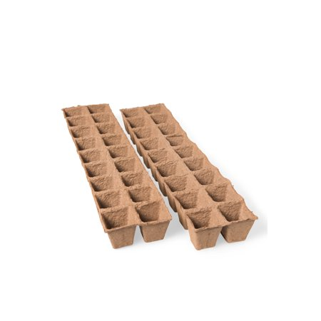 """Square Outdoor Pot - 2"""" Square Biodegradable Pots, 36 Cells"""