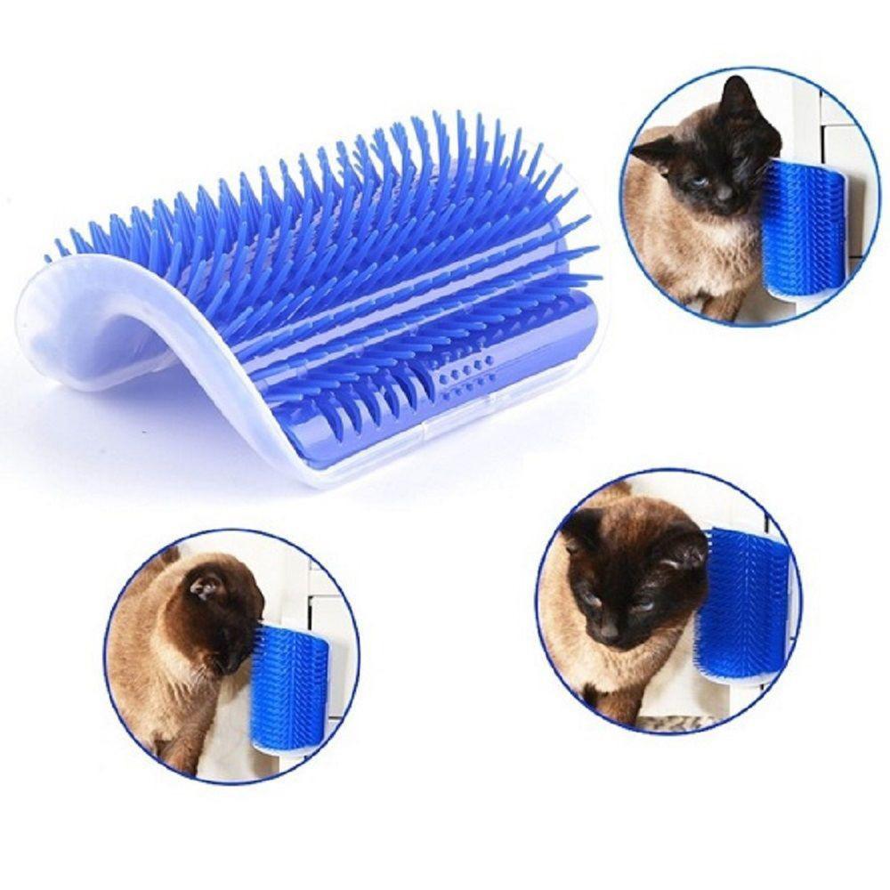 Mosunx Lovely Pet Cat Self Groomer Wall Corner Massage Comb Cat Kitten Grooming Brush