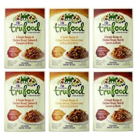 Wellness trufood grain free natural dog food complement 3 flavor wellness trufood grain free natural dog food complement 3 flavor variety 6 pouch bundle forumfinder Image collections
