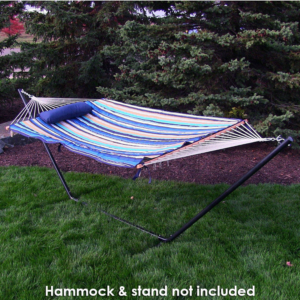 Sunnydaze Polyester Quilted Hammock Pad and Pillow Set Only, Outdoor Weather-Resistant, Desert Stripe