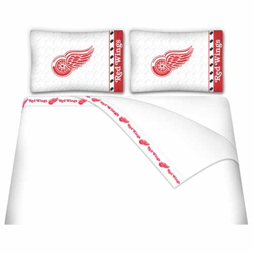 Detroit Red Wings King Sheet Set