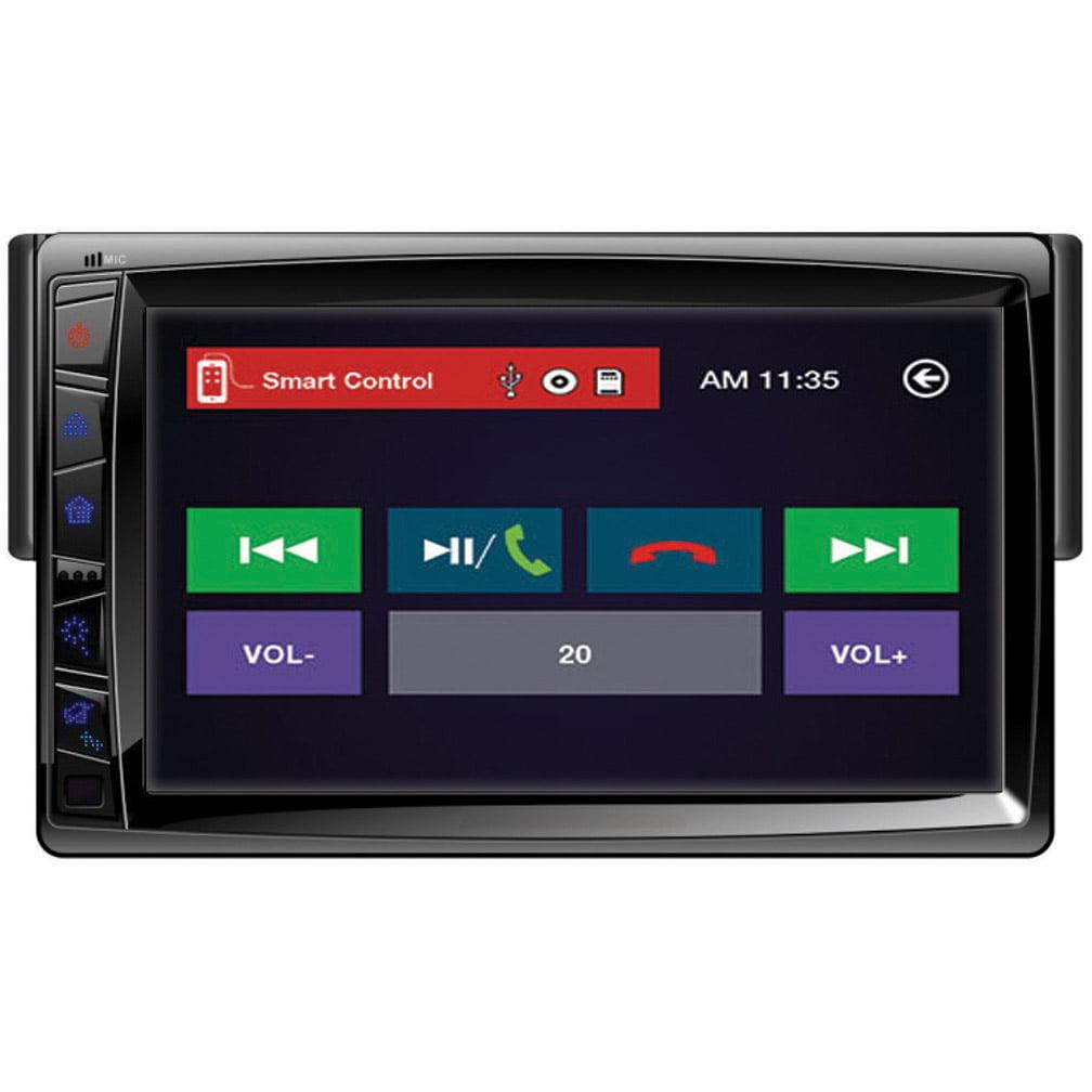 "Power Acoustik 1-DIN Source Unit w/ Motorized Detachable 7"" LCD Touch Screen"
