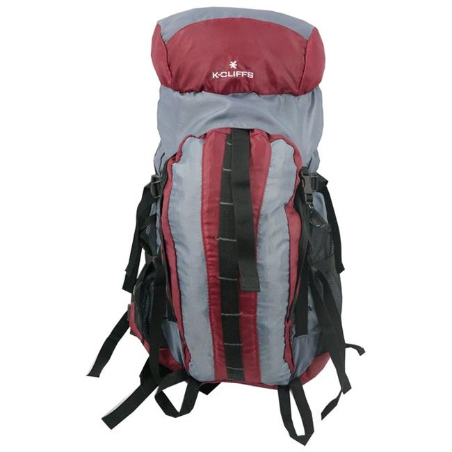 Harvest LM152M Maroon-Grey Hiking Backpack with Internal Frame