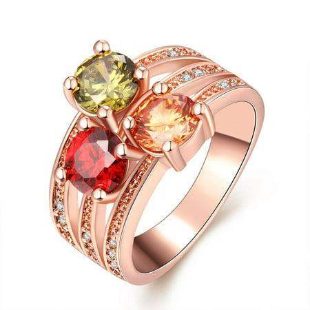 LKN18KRGPB067 18K Rose Gold Plated Rose Petal Emblem Bracelet