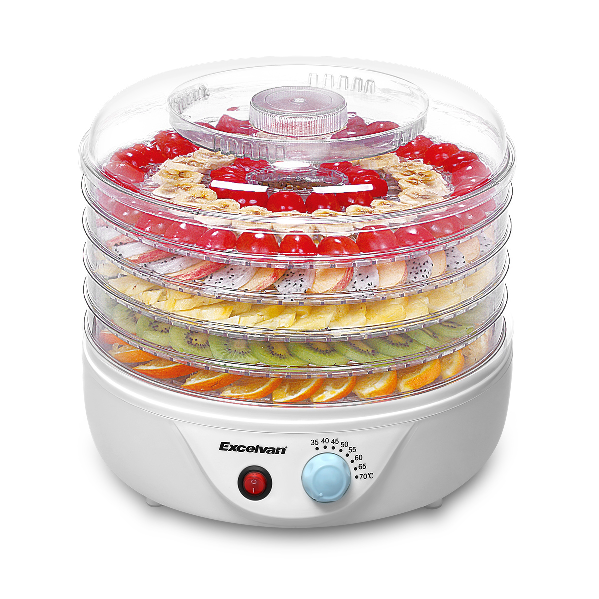 Sancusto 5 Tier 240W Airflow Circulation Electric Food Fruit Dehydrator Dryer for Meat Fruit Food Jerky Maker