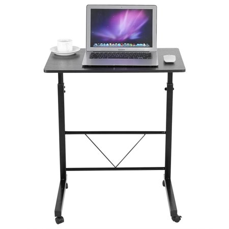 Qiilu mobile laptop desk height adjustable rolling laptop computer qiilu mobile laptop desk height adjustable rolling laptop computer table portable standing desk movable sofa bedside watchthetrailerfo