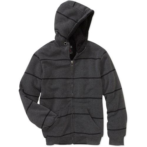 Men's Sherpa Lined Fleece Zip Up Hoody