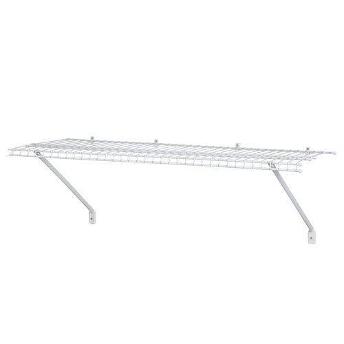 ClosetMaid 4u0027 Ventilated Wire Shelf, White 1041100   Walmart.com