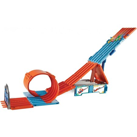 Hot Wheels Race Car (Hot Wheels Track Builder System Race Crate & Stunt Set )