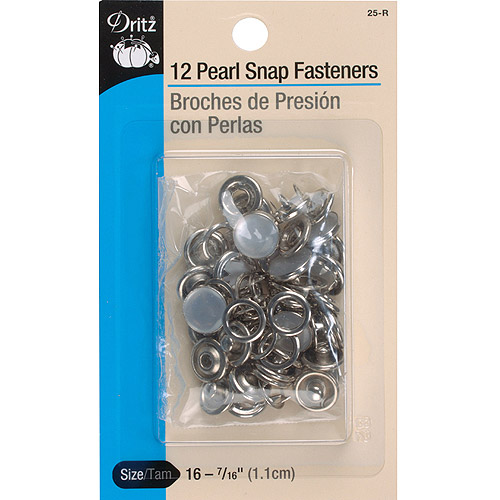 Dritz(R) Decorative Pearl Snap Fasteners, 12 count Multi-Colored