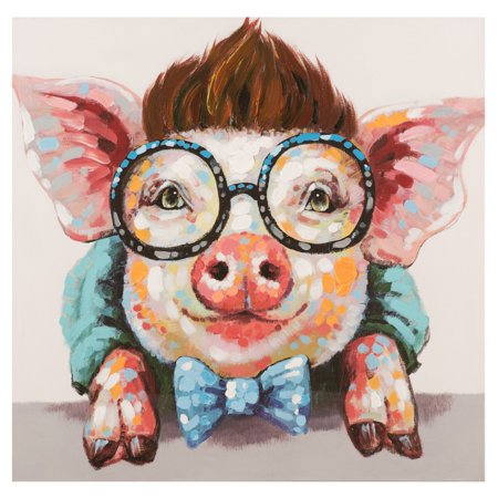 Yosemite Home Decor Sophisticated Swine Hand Painted Wall (Sophisticated Decor)