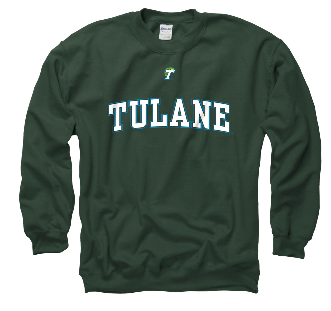 Tulane Green Wave Adult Arch and Logo Crewneck Sweatshirt - Green