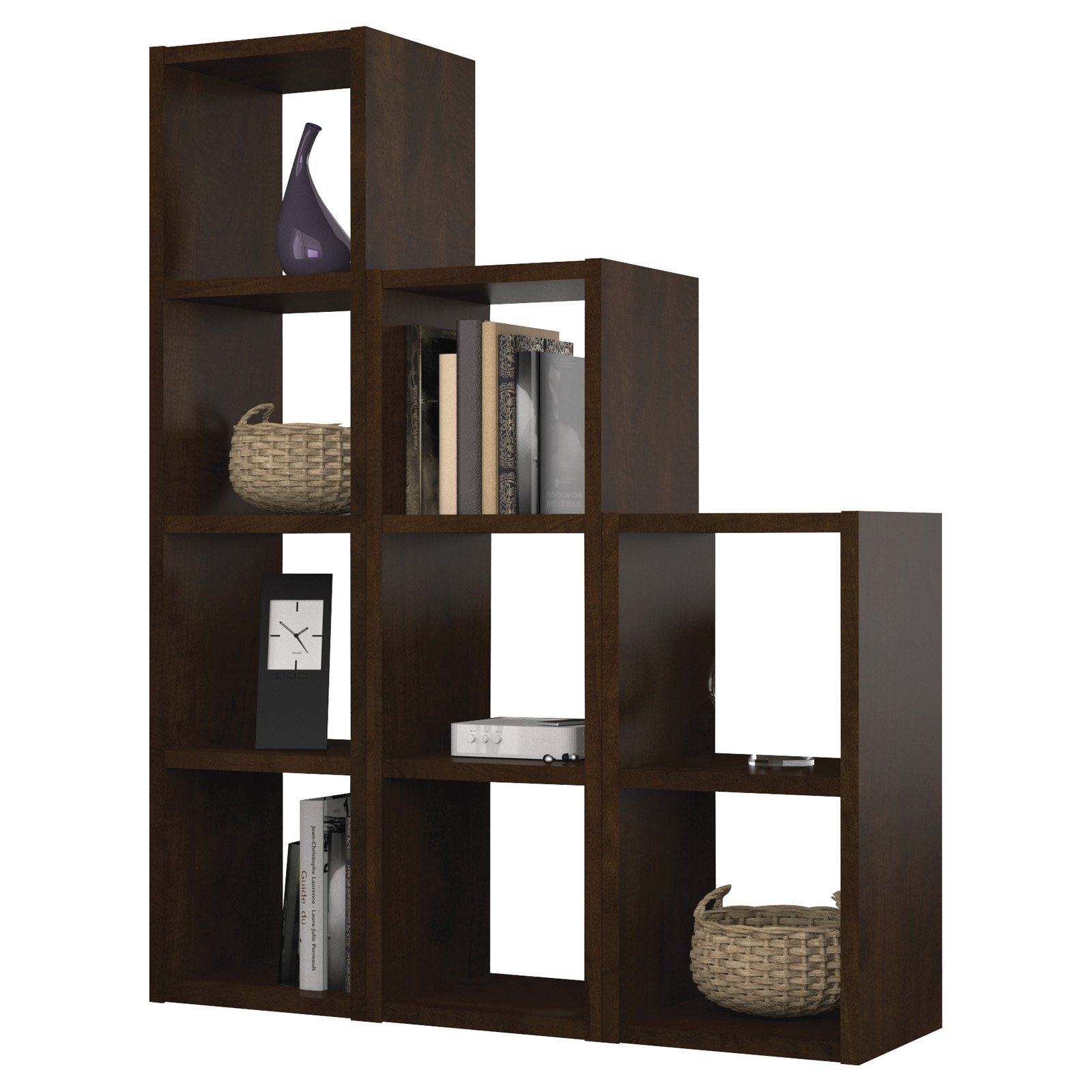 Bestar York 9 Section Cubby - Chocolate