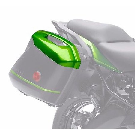 Green Saddlebag (2014 KAWASAKI KQR 28 LITER HARD SADDLEBAGS COLOR PANELS - GREEN)