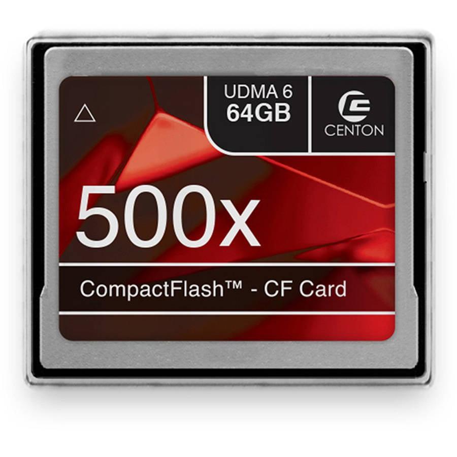 Centon MP Essential Compact Flash Memory Card, 500X, 64GB