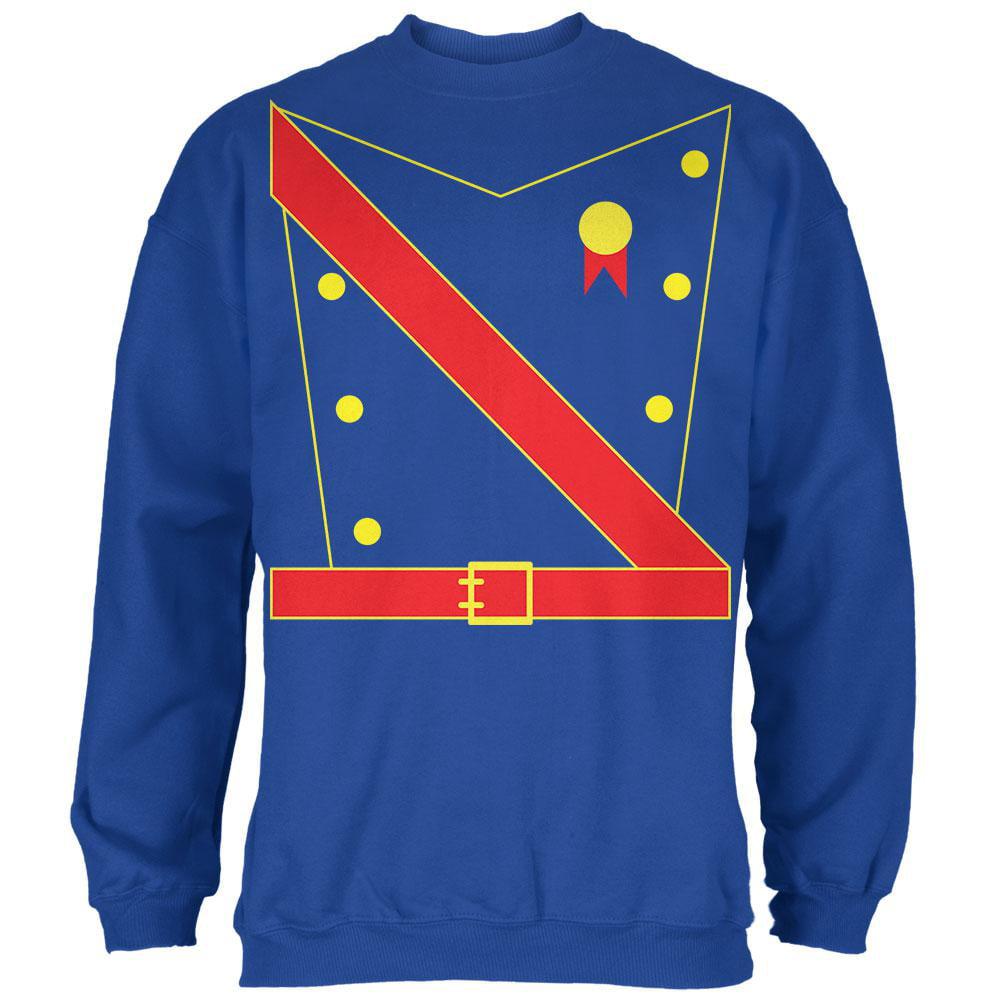 Halloween Prince King Royal Guard Costume Mens Sweatshirt