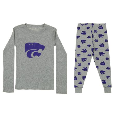 OuterStuff NCAA Toddler Kansas State Wildcats Long Sleeve Tee and Pant Sleep Set