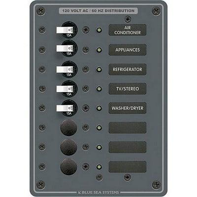 Blue Sea 8059 Ac 8 Position Toggle Circuit Breaker (3 Position Circuit Breaker Panel)