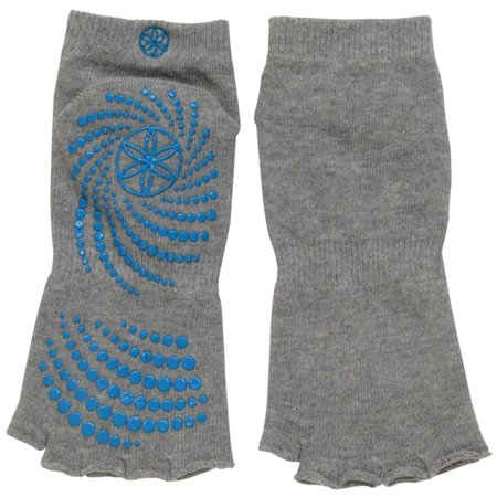 Gaiam Toeless Grippy Yoga Socks, Grey, Small/Medium