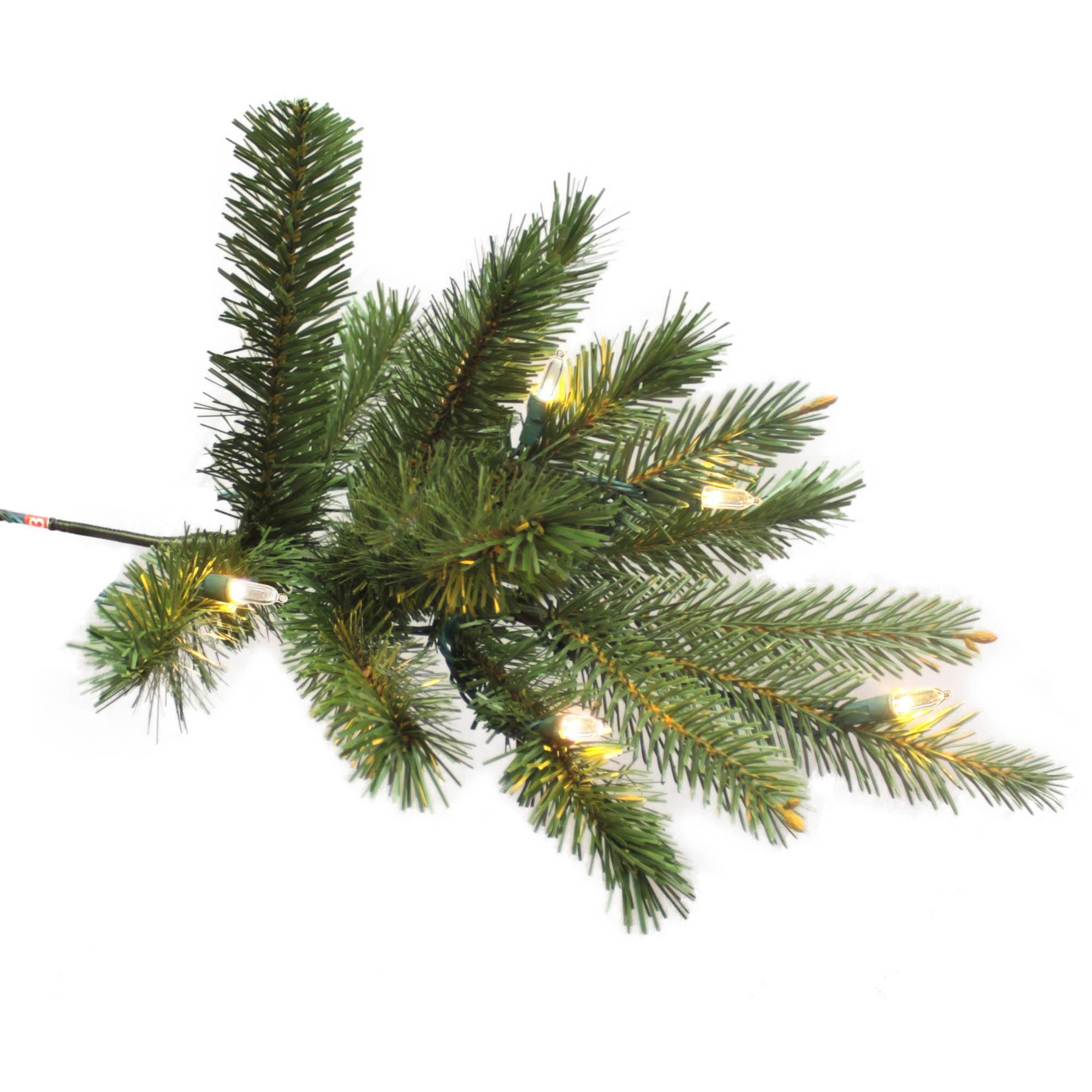 GE Pre-Lit 7.5\' Douglas Fir Artificial Christmas Tree, Dual Color ...