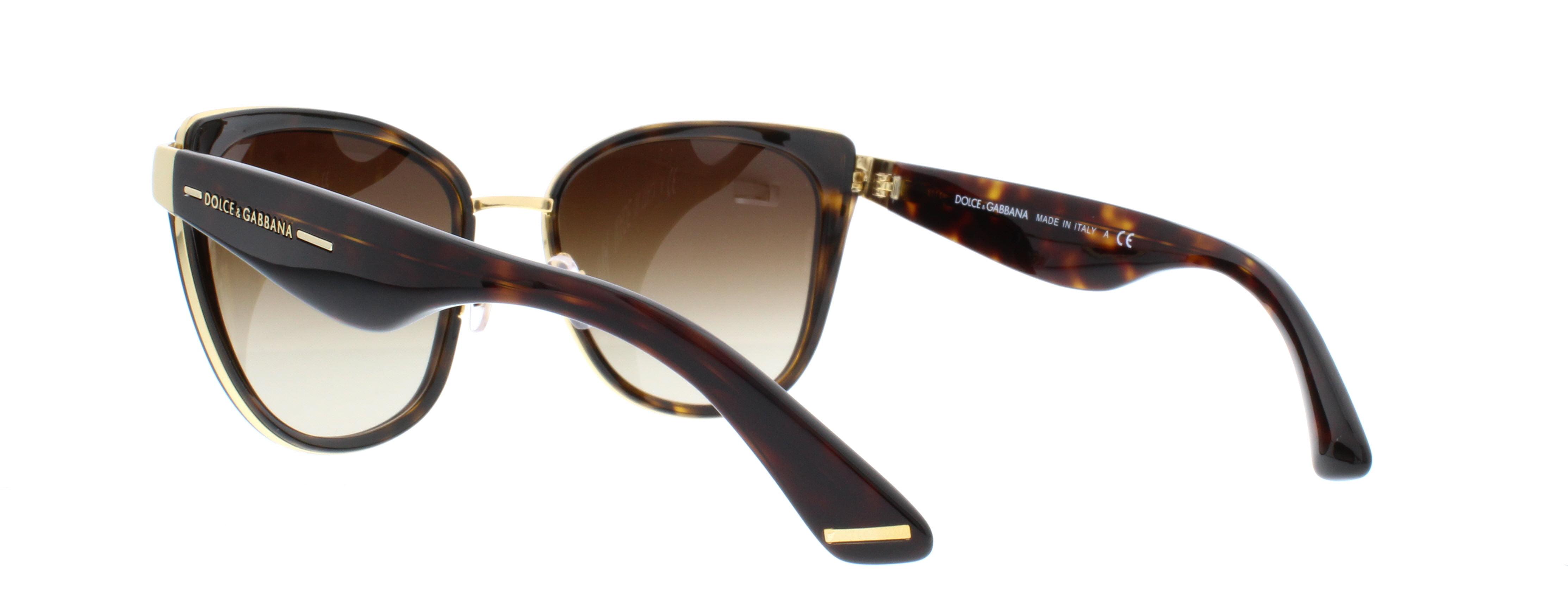31bae81b4baa Dolce   Gabbana - Gradient DG2107-02 13-57 Brown Butterfly Sunglasses -  Walmart.com